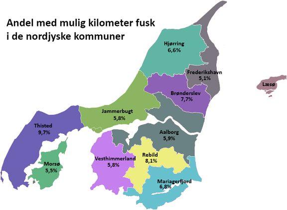 Nordjysk kilometersnyd – I denne kommune snydes der næsten med hver 10. bil!